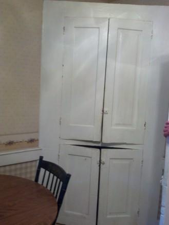 Capt Henry Truby's built-in corner cupboard.