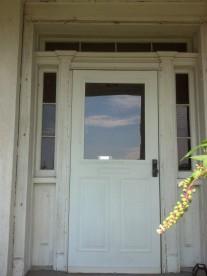 Capt Henry Truby's front door, exterior view.