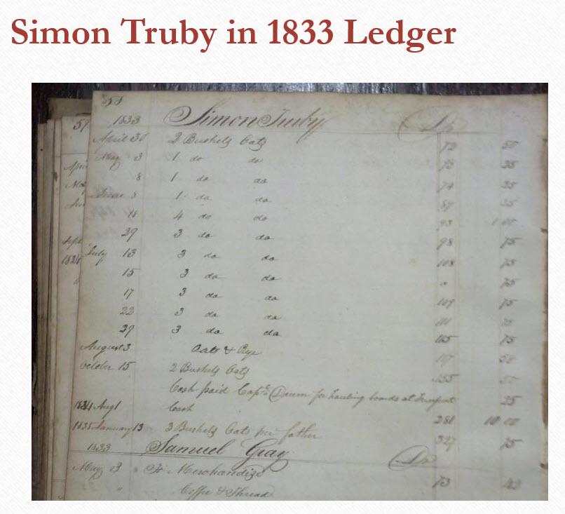 SimonTruby-1833 Ledger
