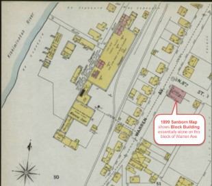 1899 Sanborn Fire Insurance Map.