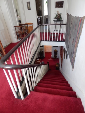 Bent-wood railings original to this 1844 house
