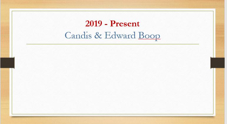 Candis & Edward Boop
