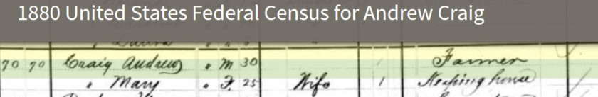 1880Census-AndrewCraig&Mary