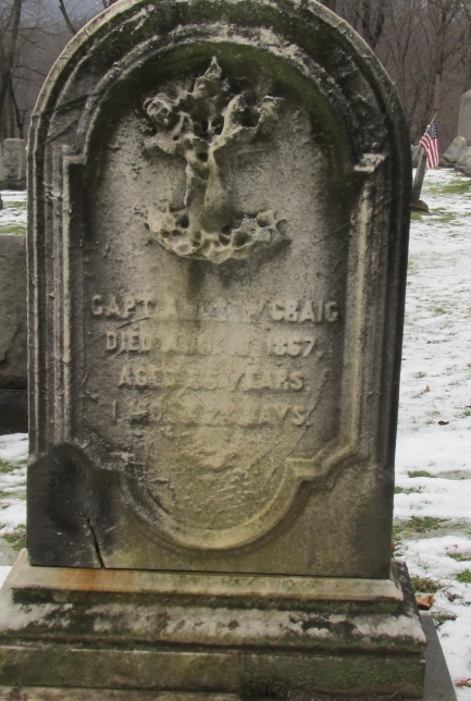 Capt Andrew Craig, Kittanning Cemetery. Photo by Ruthi, FindAGrave website