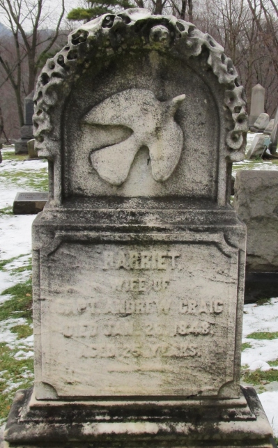 Harriet Craig, Kittanning Cemetery. Photo by Ruthi, FindAGrave website