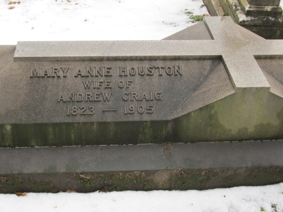 Mary Ann Craig, Kittanning Cemetery